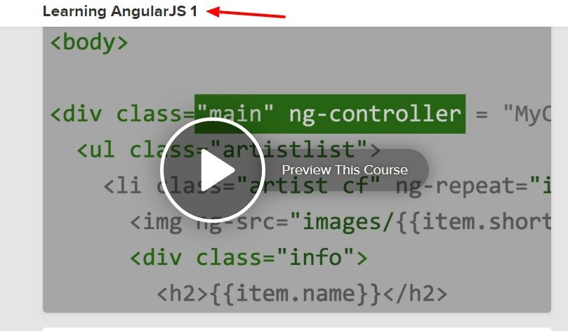Learning AngularJS 1