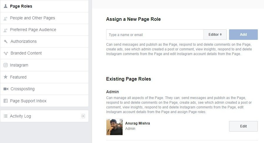 Admin Role - How to Delete a Facebook Page