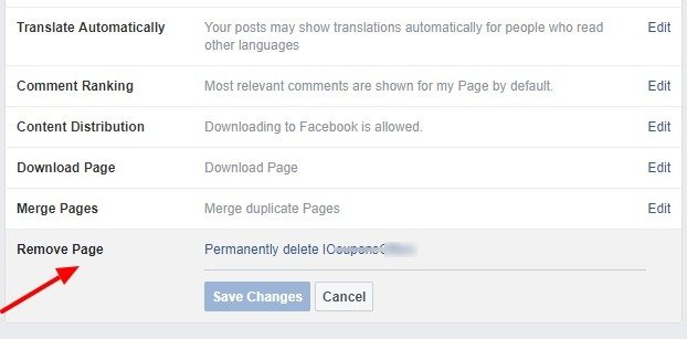 Delete Page - How to Delete a page on Facebook