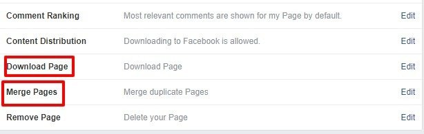 Merge Pages - How to delete my Facebook page