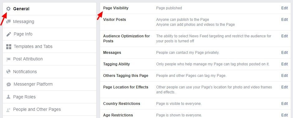 Page Visibility - How to delete a page you created on Facebook