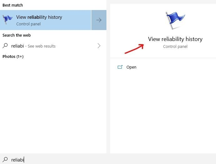 clear-problem-reports-in-windows-10: How to open reliability monitor fig 4