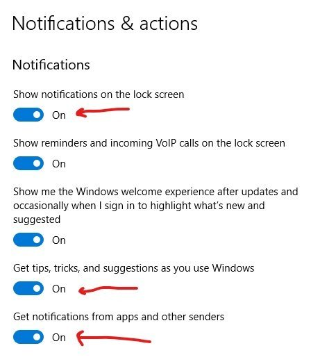 Notifications and actions - Notifications