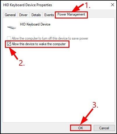 HID Keyboard Device Properties - 3