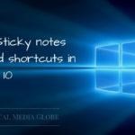 List of Sticky notes Keyboard Shortcuts in Windows 10