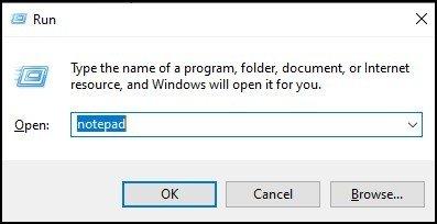 Open Notepad through Run - 3 - DigitalMediaGlobe
