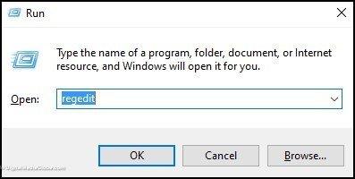 Open Registry editor via Run 2