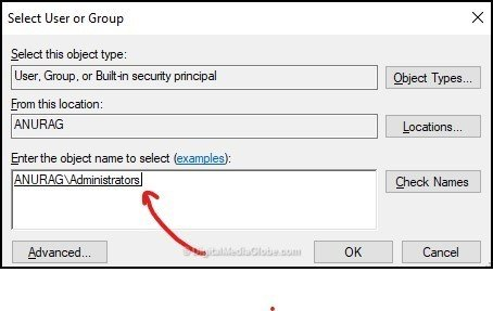 Query 1 - Select user or group 5