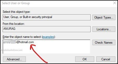 Query 1 - select user or group(email) 6