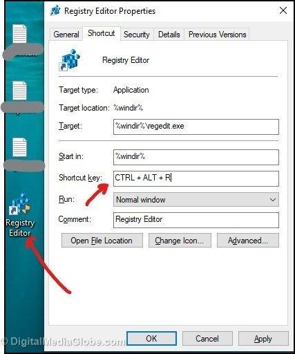 Registry Editor shorcut - registry editor properties 6(a)