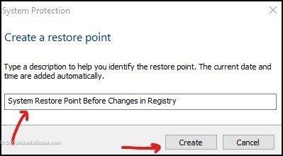 System Restore Point Description 5(b)