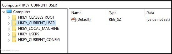 Type of Registry Keys