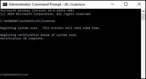 fix 1 - sfc scannow command 2