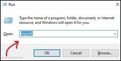 open regedit run command - backup registry 1
