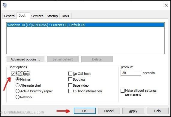 System configuration tool windows 10