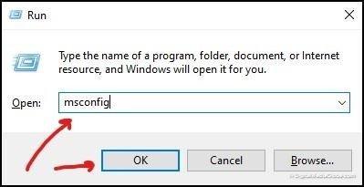 open msconfig windows 10