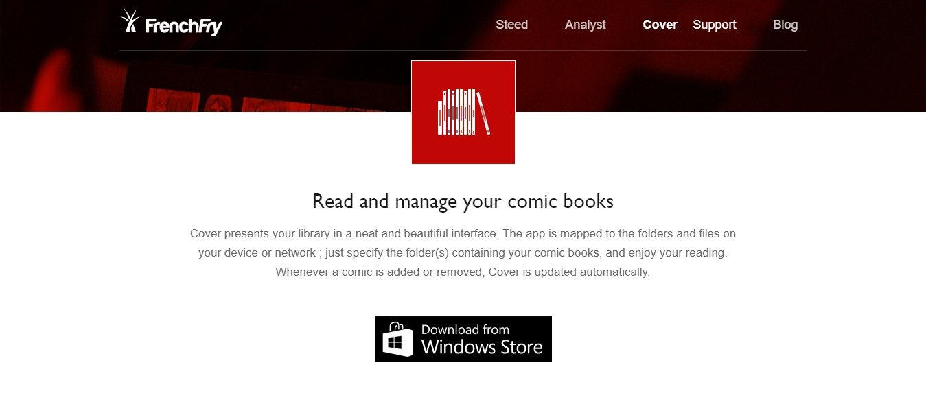 Cover The best App to read and manage your Comics French Fry