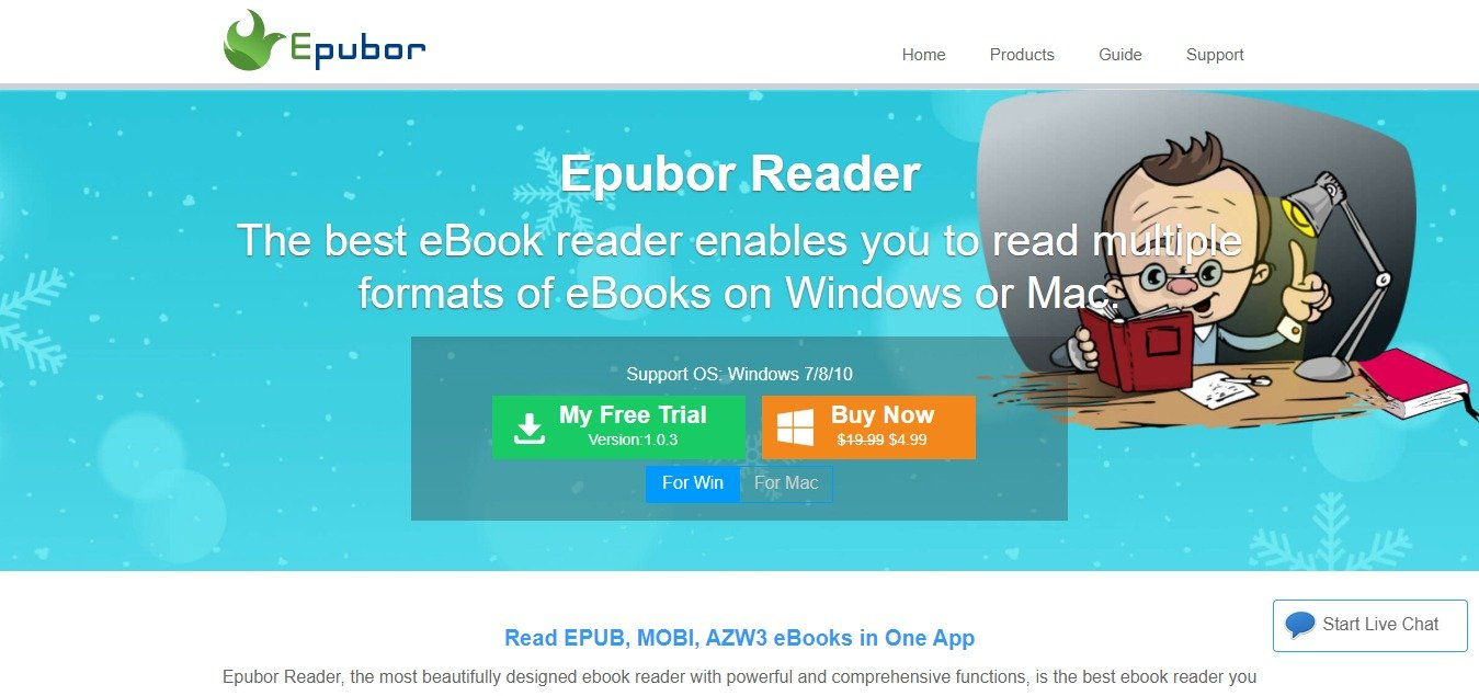 Epubor Reader for Windows Mac Support