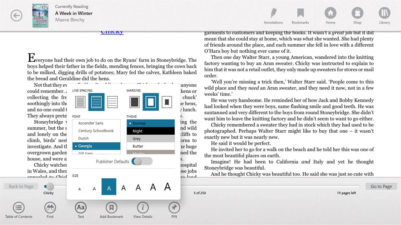 Nook - Top EPUB Reader for Windows 10