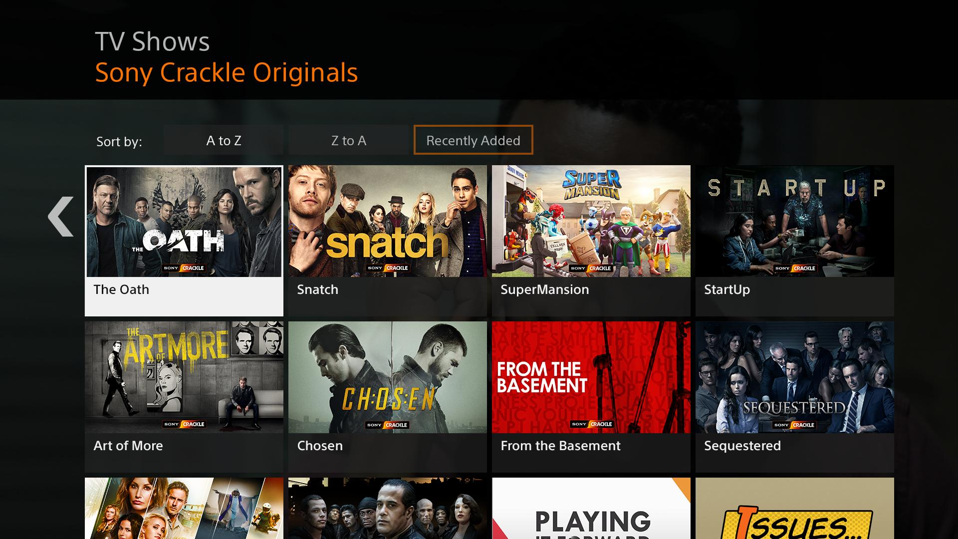 Sony Crackle Movie apps for free