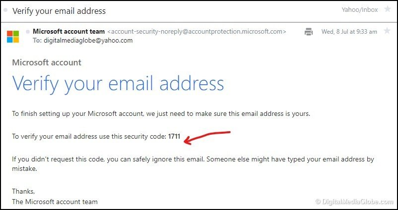 Verify your email address email