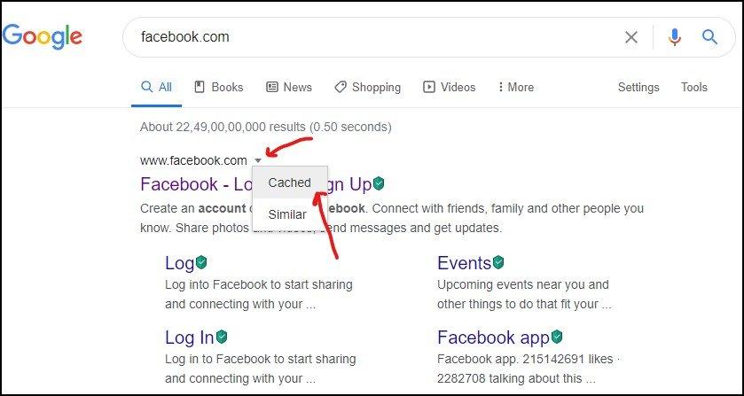 Google cache to unblock website