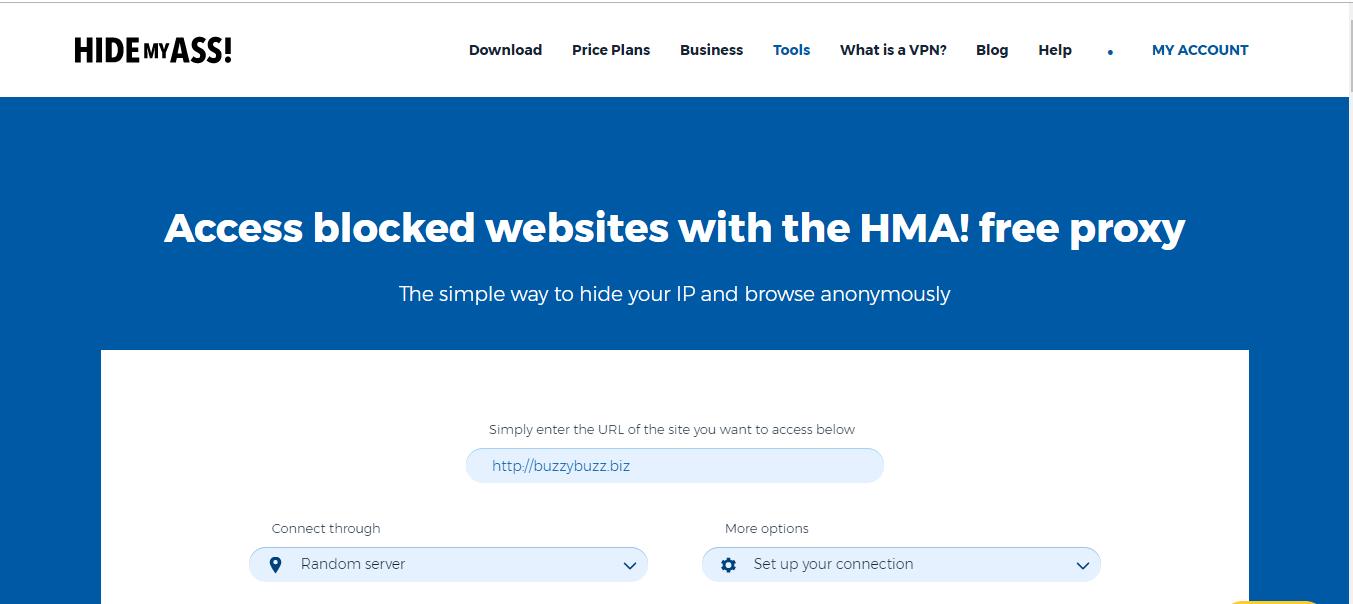 HideMyAss Free web Proxy