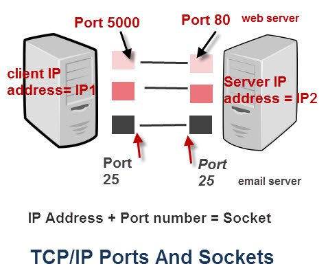 IP address ports sockets