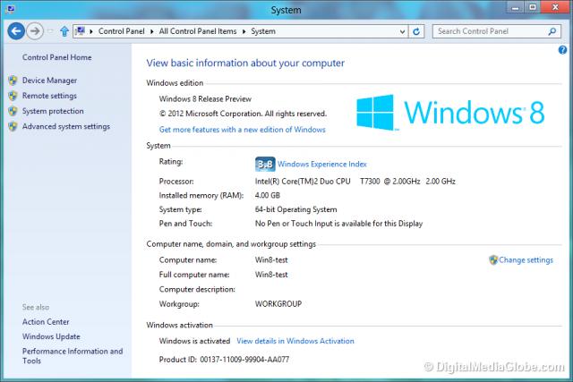 Windows 8 System Digital Media Globe
