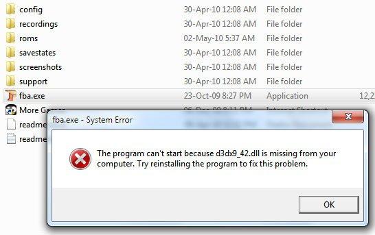 dll file missing