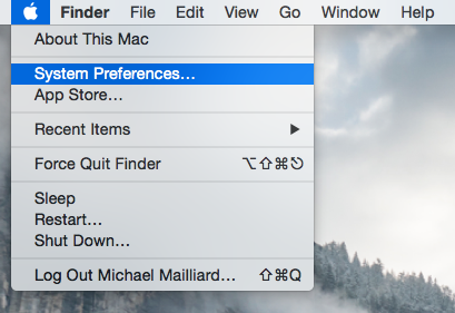 System Preferences in Mac OS