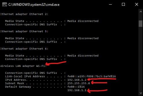 Assign static IP address in windows 10