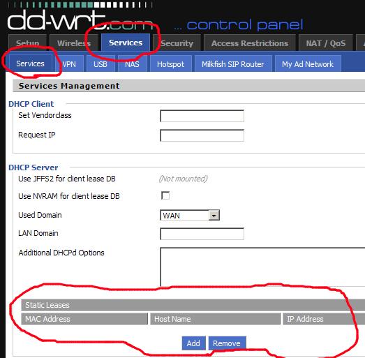 DD WRT IP MAC binding