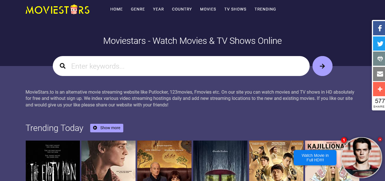 MovieStars – Watch HD Movies Online for Free