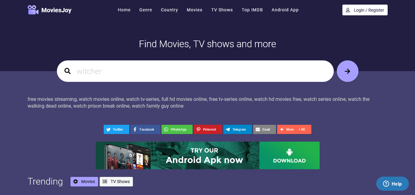 MoviesJoy Free movies streaming watch movies online