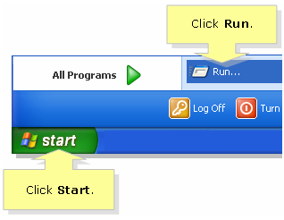 Click Run on Windows XP