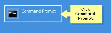 Click command prompt in windows 8