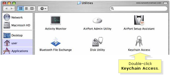 Keychain access Mac OS