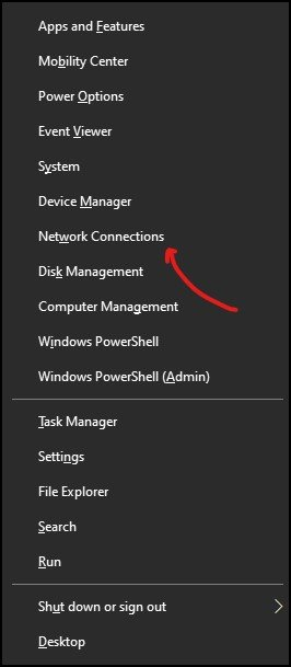 Network Connection in Windows 10
