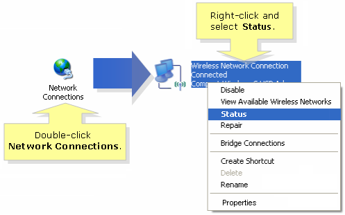 Network Connections in Windows XP