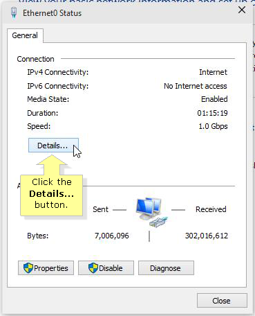 Network connection Windows 10 1