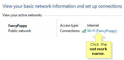 Network name in windows 8