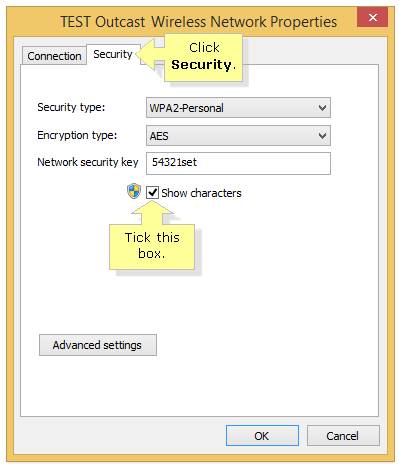 Network password windows 8