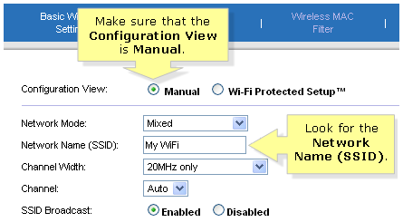 SSID in linksys router