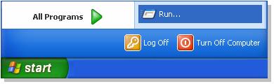 Start RUN in windows xp