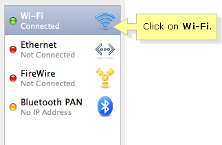 Wi Fi icon in Mac OS