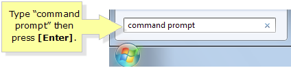 open Command Prompt in windows 7