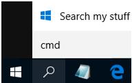 taskbar search icon in windows 10