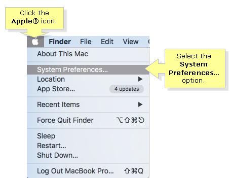 Apple system preferences change DNS server