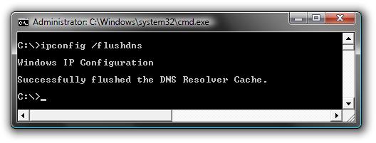 Clear DNS cache on Windows 10